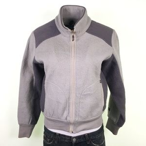 The North Face Gray Two-Tone Fleece Jacket DR02519
